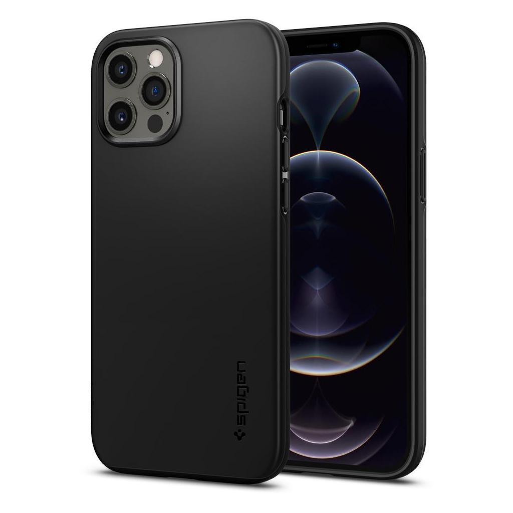 iPhone 12 Pro Max Spigen Thin Fit Case Black ACS01612 image