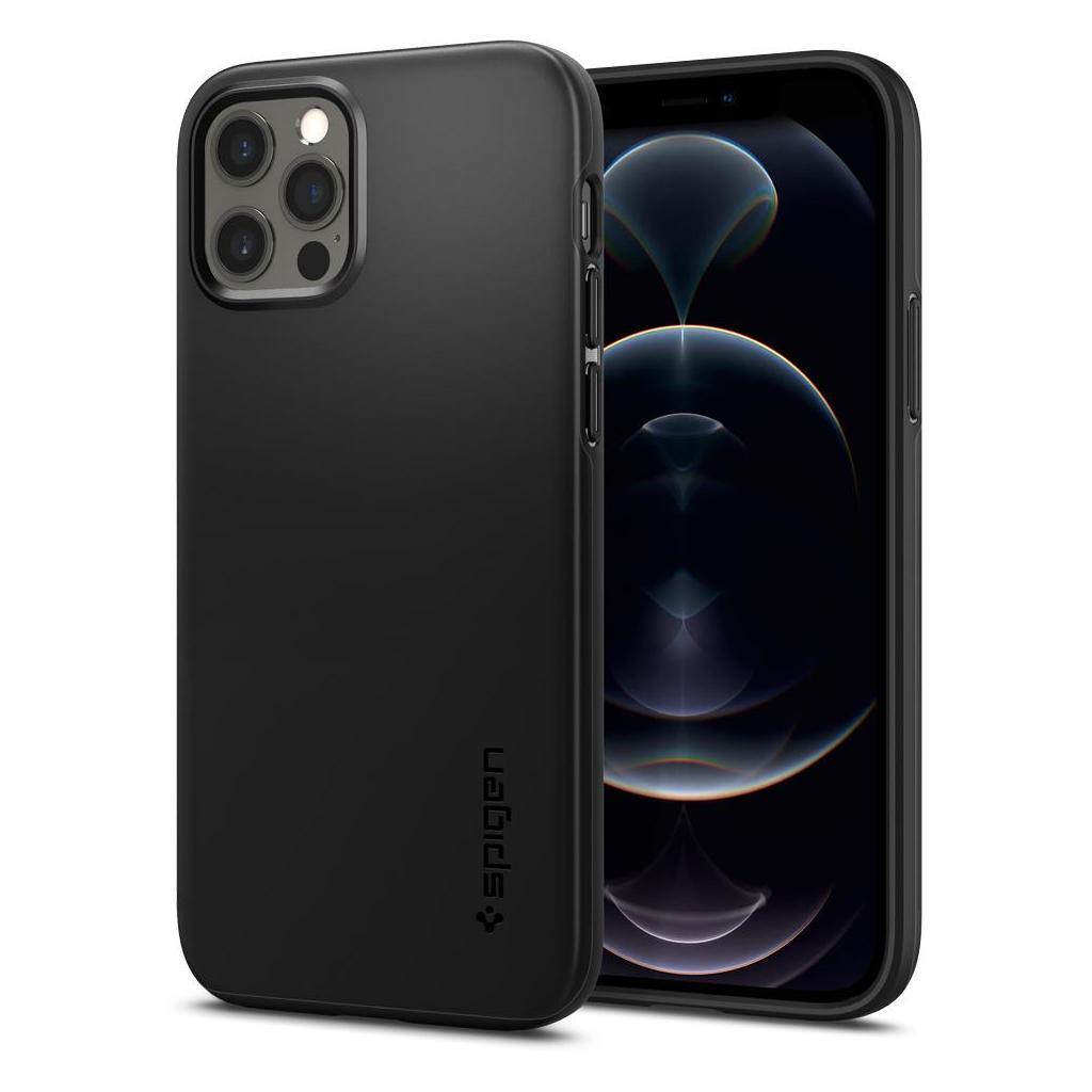 iPhone 12/12 Pro  Spigen Thin Fit Case Black ACS01696 image