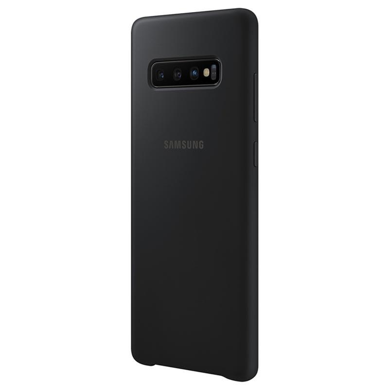 Original Silicone Cover Samsung Galaxy S10 Plus G975 Black EF-PG975TBE image