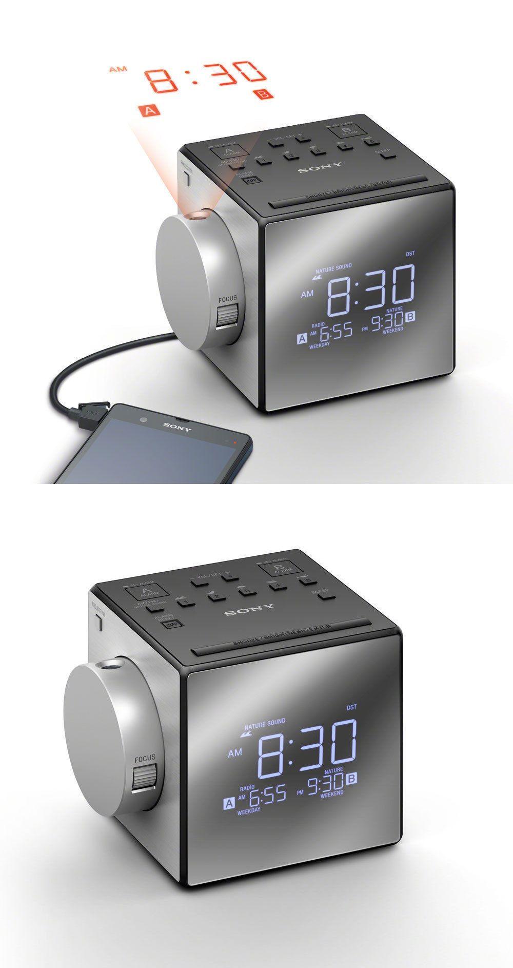 Ραδιόφωνο-ρολόι με προβολή ώρας Sony ICF-C1PJ Grey image