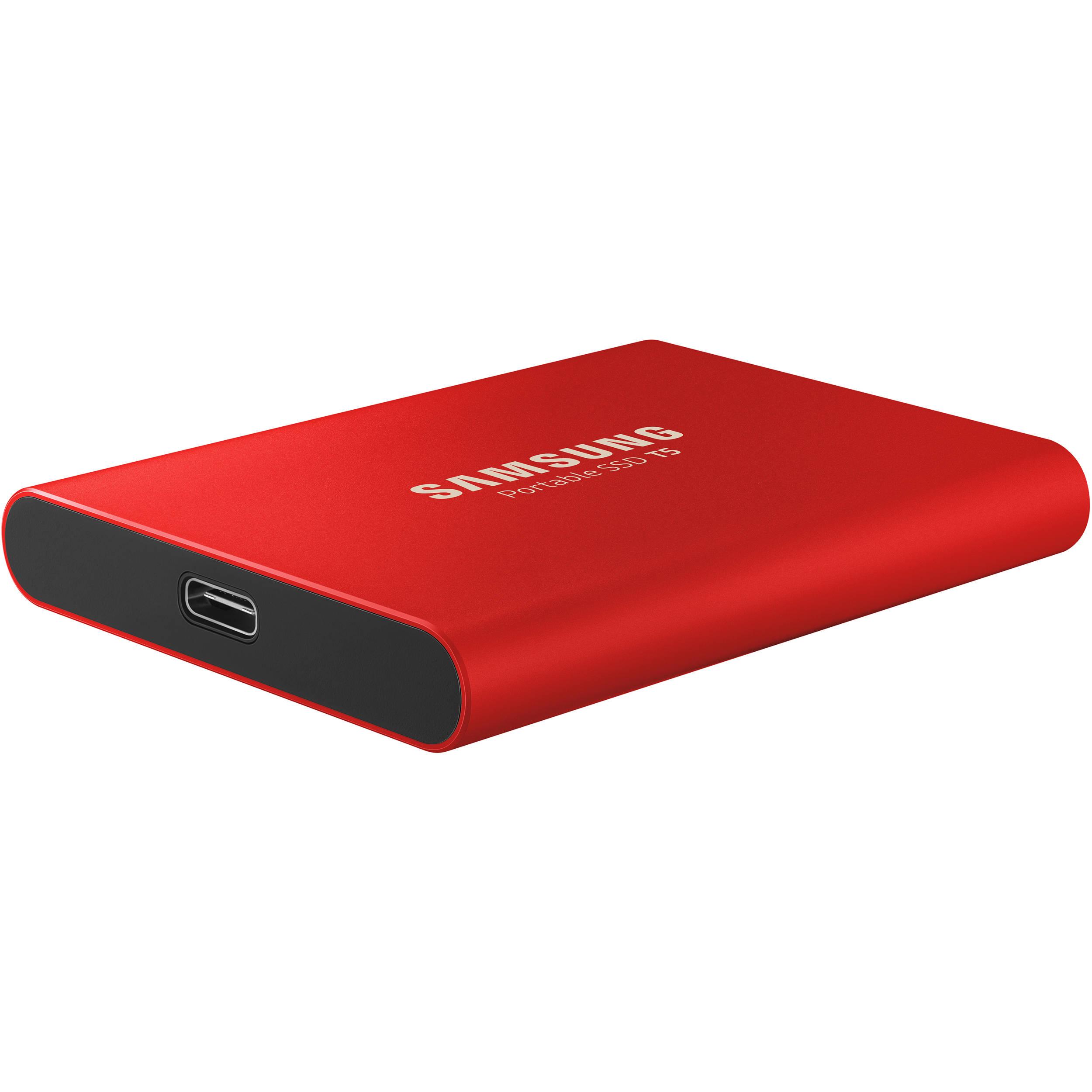 Εξωτερικός Σκληρός Δίσκος Red Samsung Portable SSD T5 1TB MU-PA1T0R/EU image