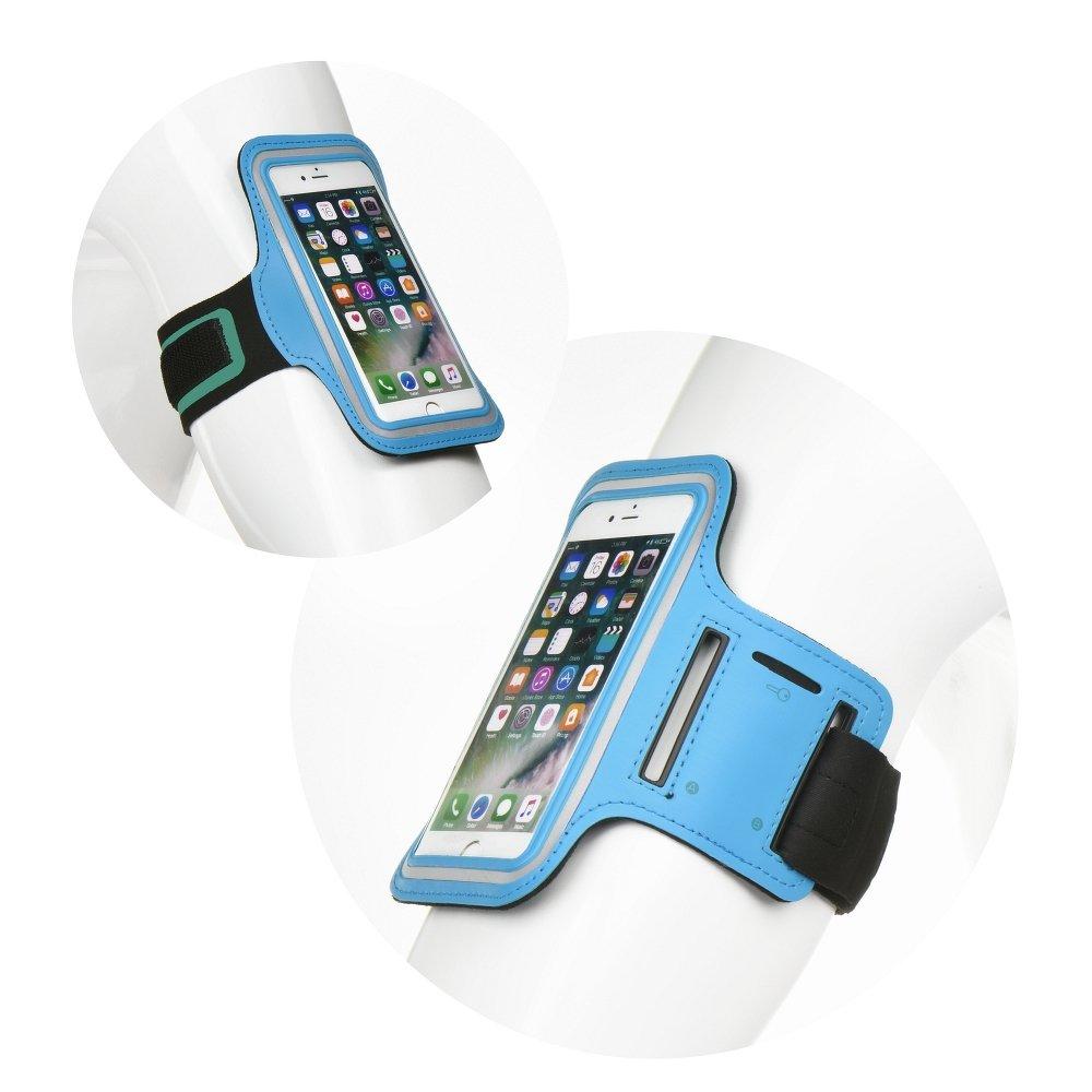 """Armband Sport Case για Samsung Note 9, S8 Plus,S9 Plus,S10 Plus (6-6.5"""") Universal Blue image"""