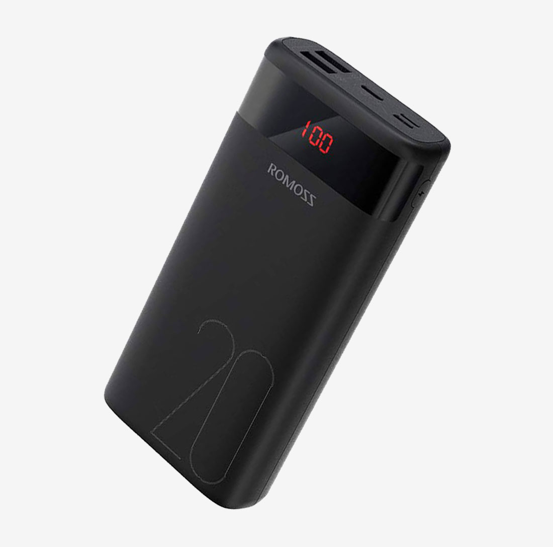 Power Bank Ares 20 Black 20000mah Dual USB image