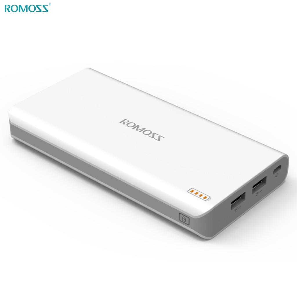 Power Bank Polymos 20 White External Battery 20000mAh Romoss image