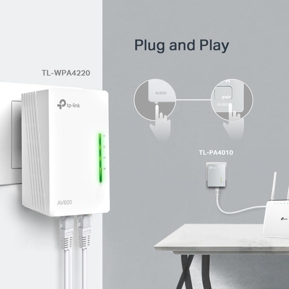 Powerline WiFi Kit v5 AV600 Tp-Link TL-WPA4220KIT(EU)
