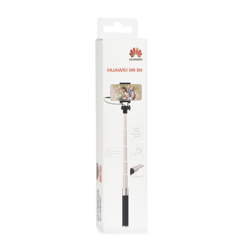 "Wired Selfie Stick AF11 3.5"" Jack Huawei Black/Gold image"